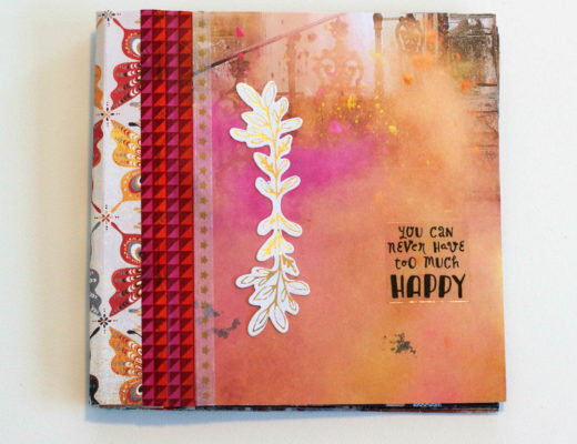scrapbook mini albums repurposing Anthropologie catalog pages