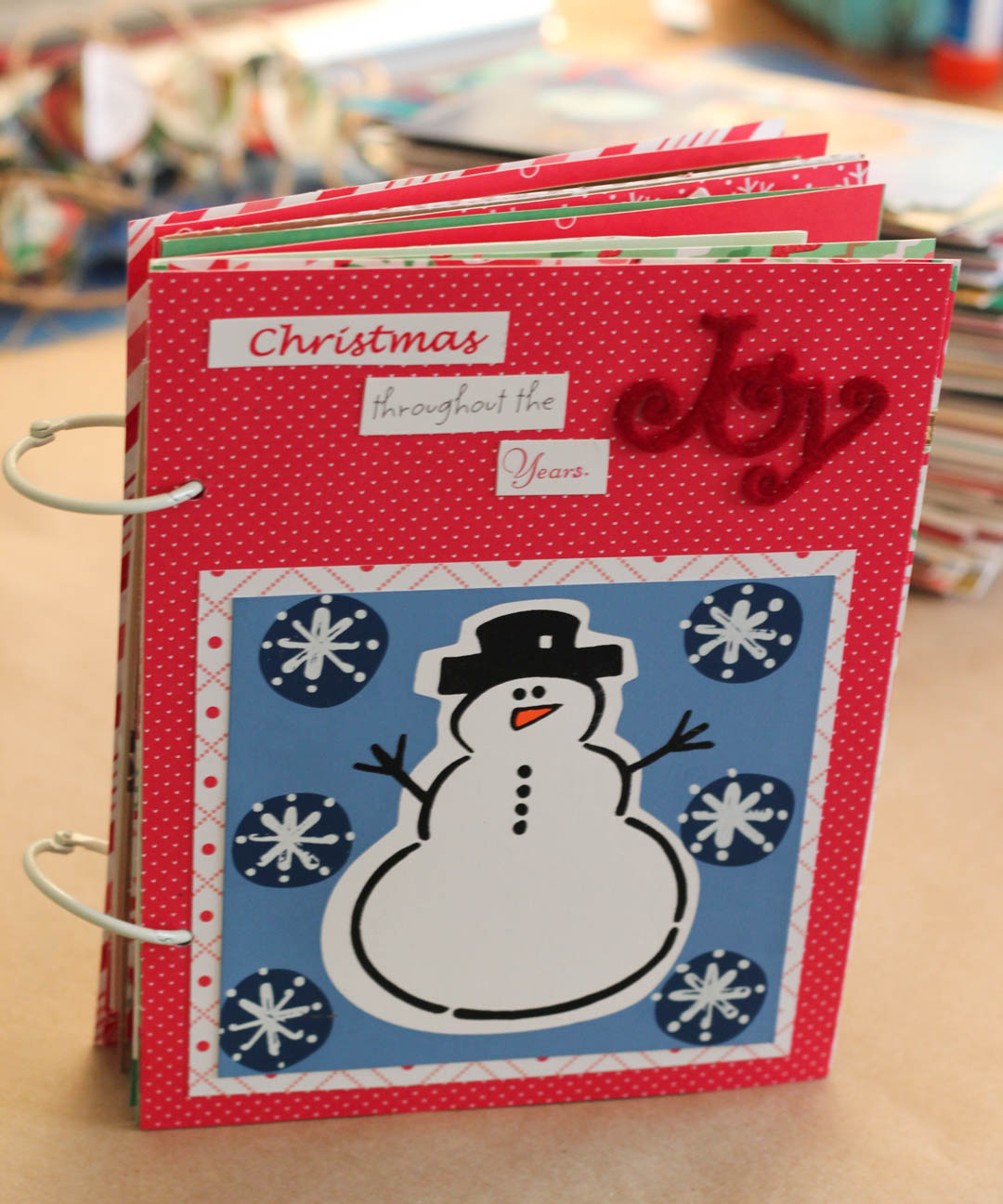 Christmas Card Mini Album
