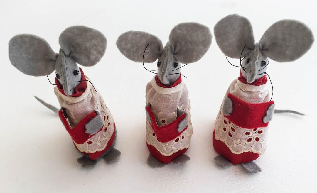Christmas Mice Decorations