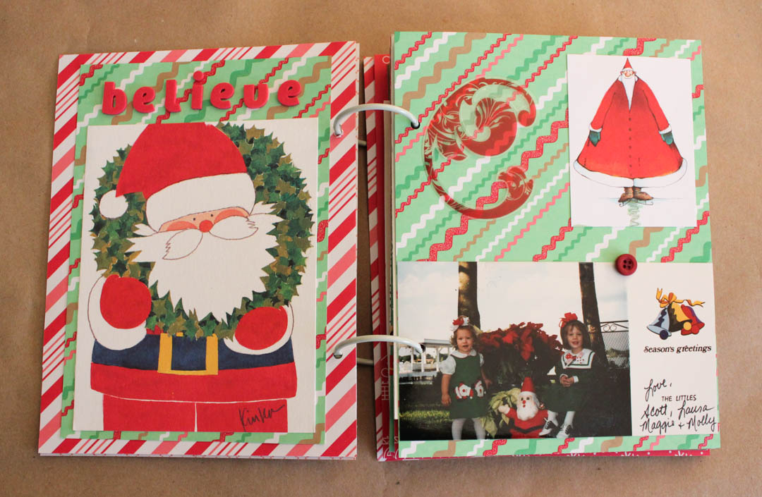 Recycled Christmas Mini Album