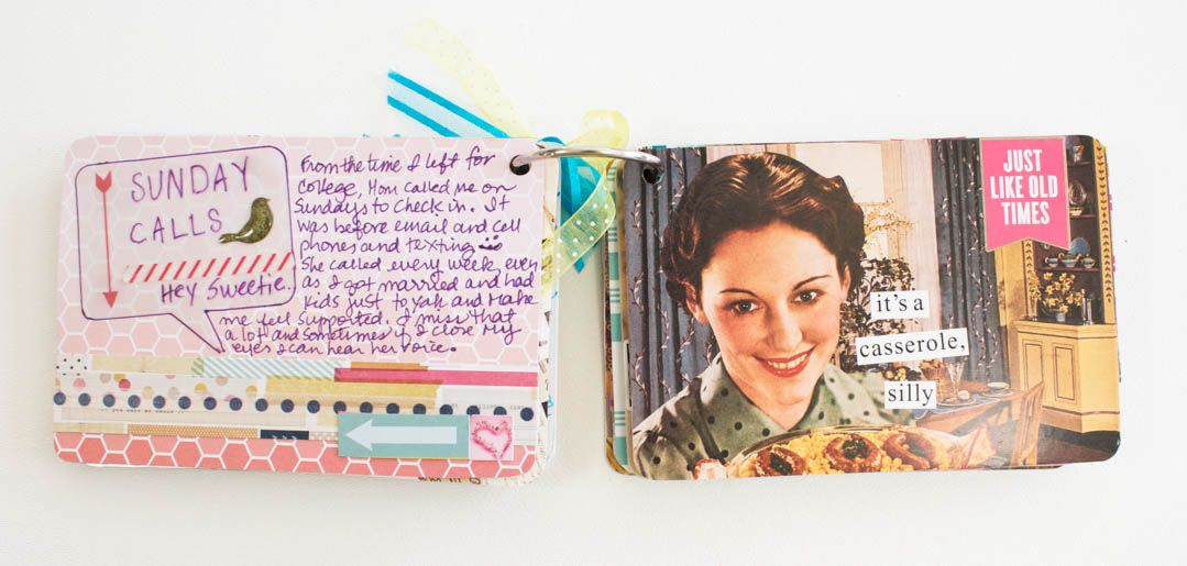 Postcard Mini Scrapbook Album