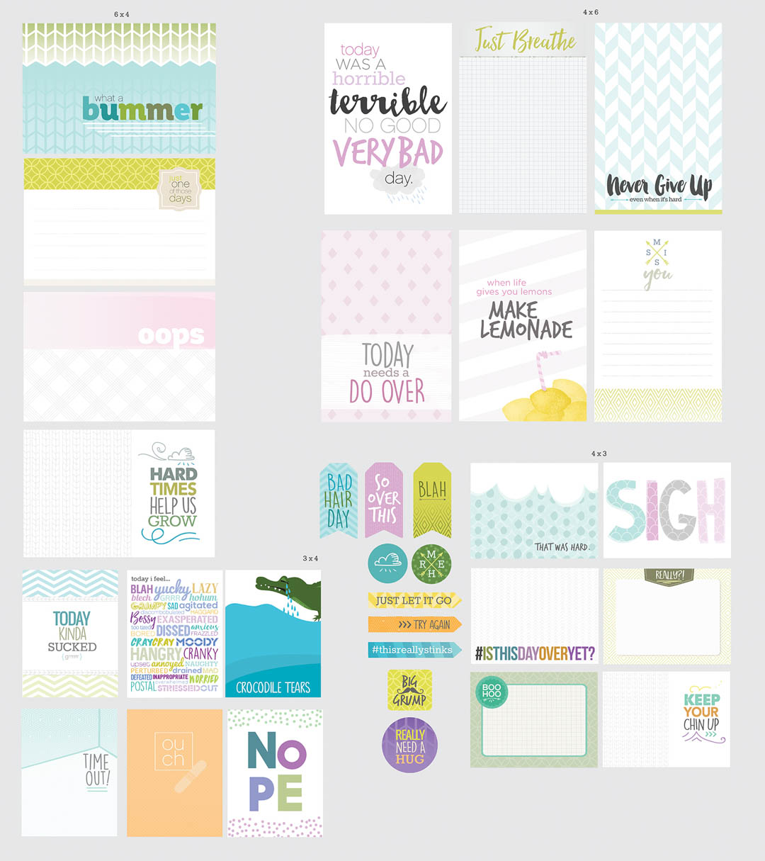 Bad Day Scrapbooking Cards