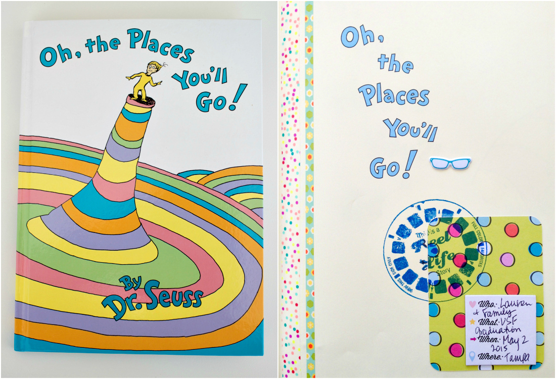 Altered Dr. Seuss Book for College Gift