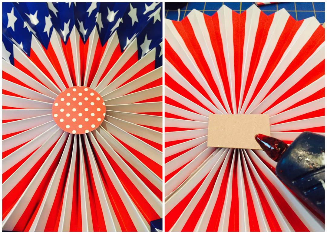 Patriotic Door Display Using Paper Fans