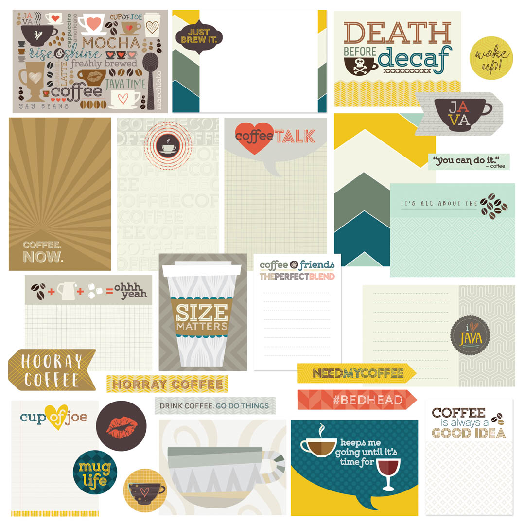 Coffee Themed Scrapbook Cards