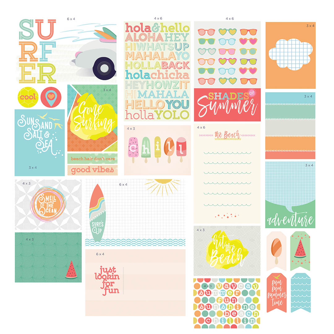 Summer Themed Scrapbook Card Collection