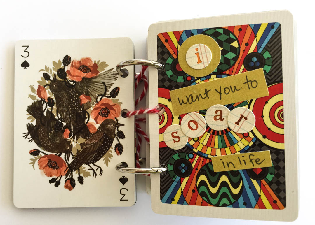 Playing Cards turned into Scrapbook