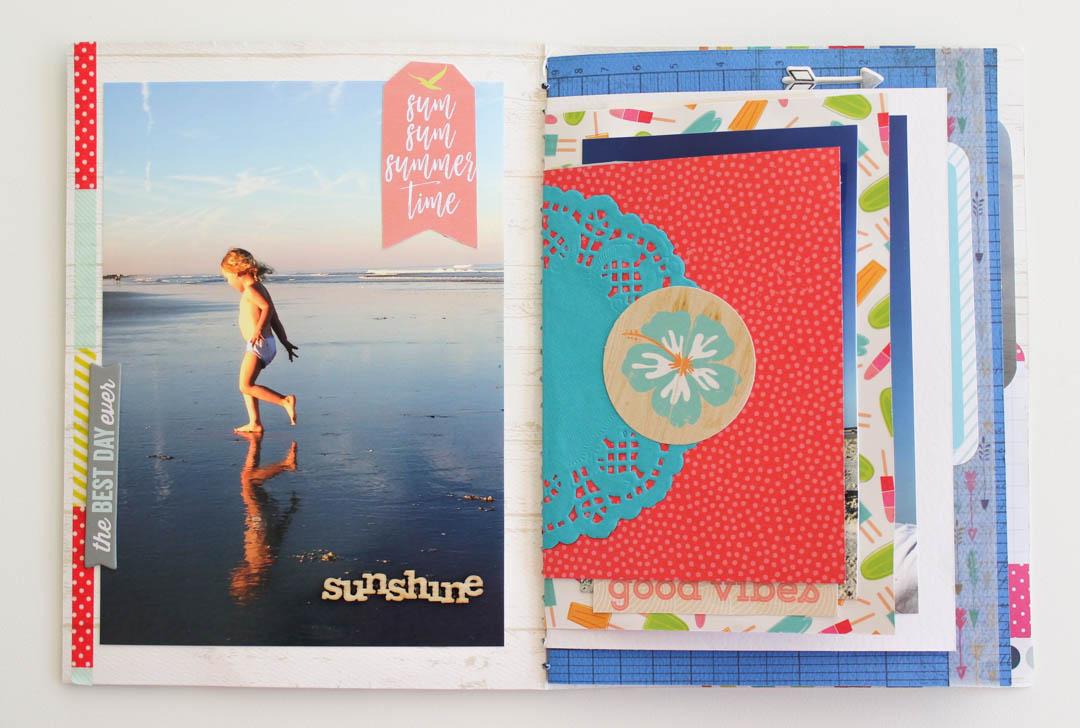 Summer Mini Scrapbook Album