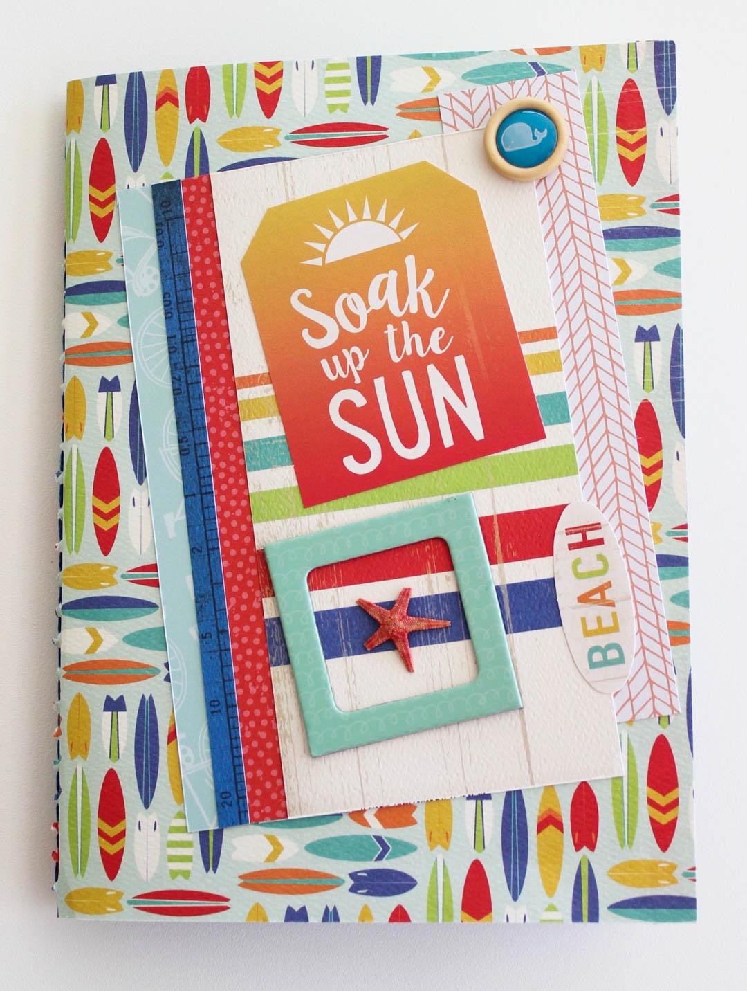 Summer Theme Mini Scrapbook
