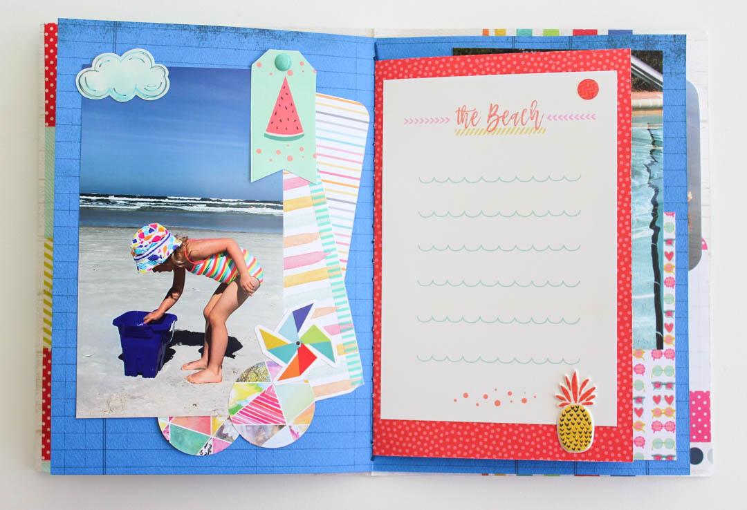 Summer Scrapbook Mini Album
