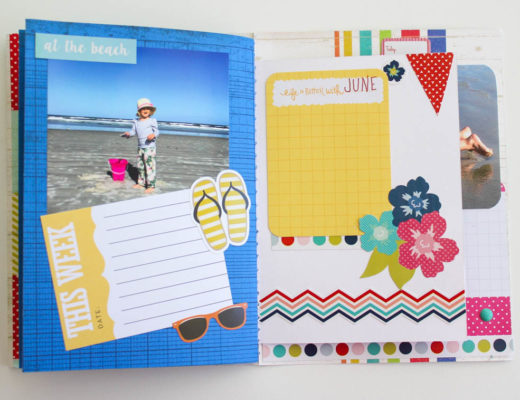 Summer Themed Scrapbook Mini Album