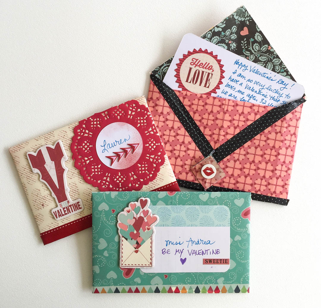Handmade Valentine's Day Envelopes