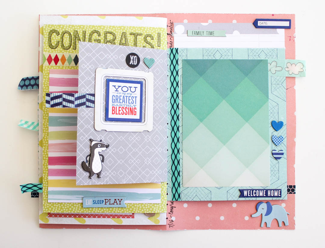 Baby Boy Scrapbook Album