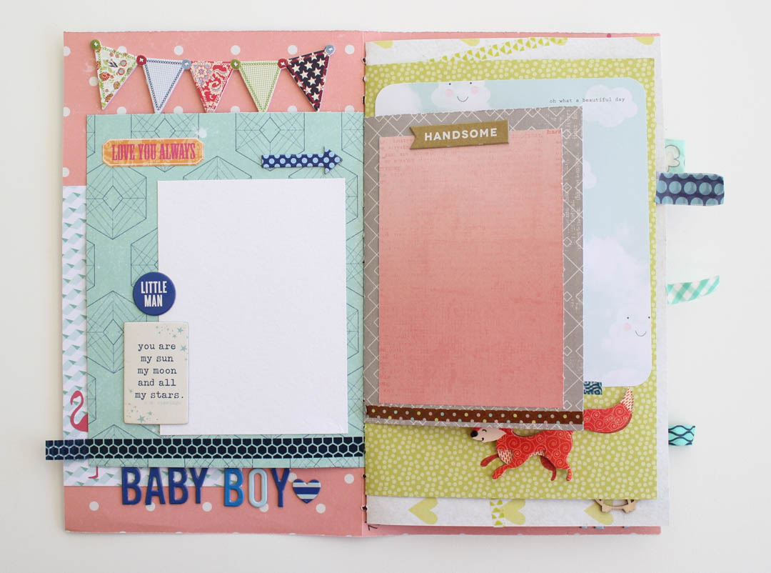 Baby Boy Mini Scrapbook