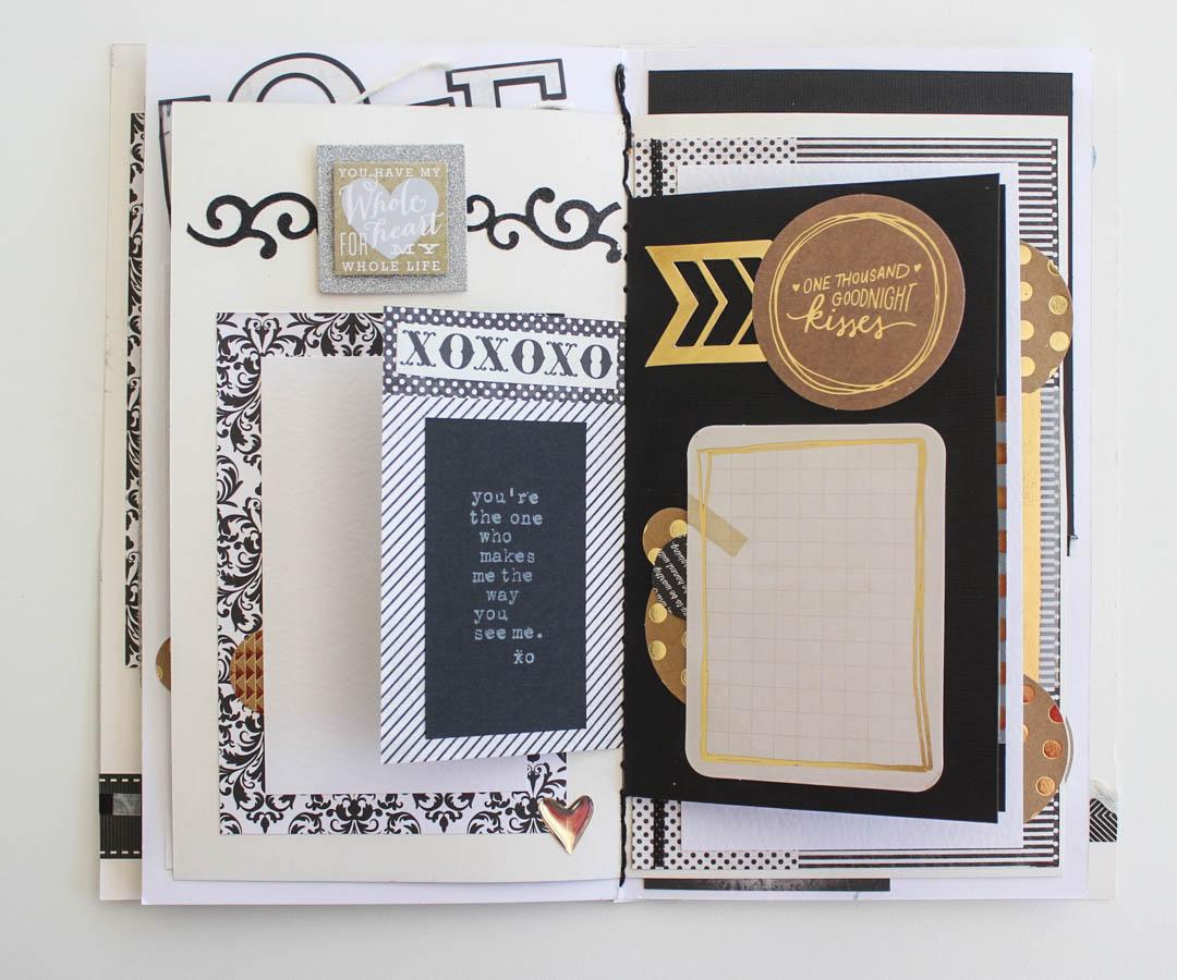Wedding Theme Mini Scrapbook Album