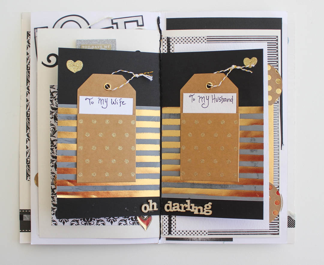 Wedding Theme Mini Scrapbook