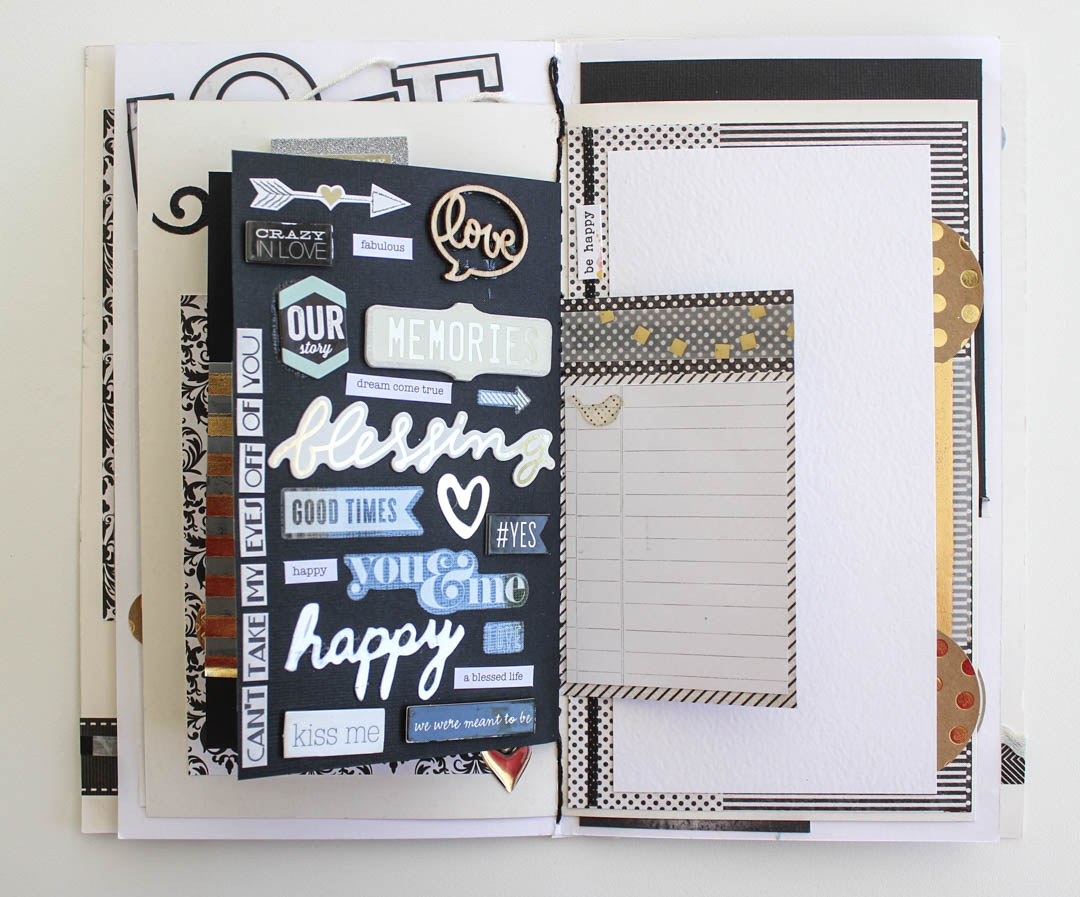 Wedding mini scrapbook album