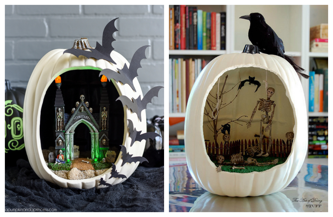 Diorama Pumpkin Decorations