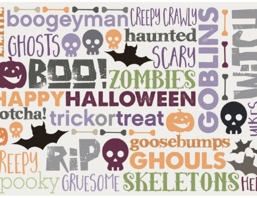 Free Halloween Scrapbook Card Download