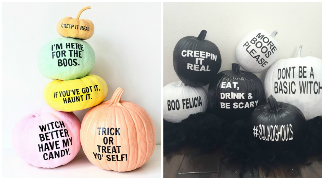 Pumpkins with Messages