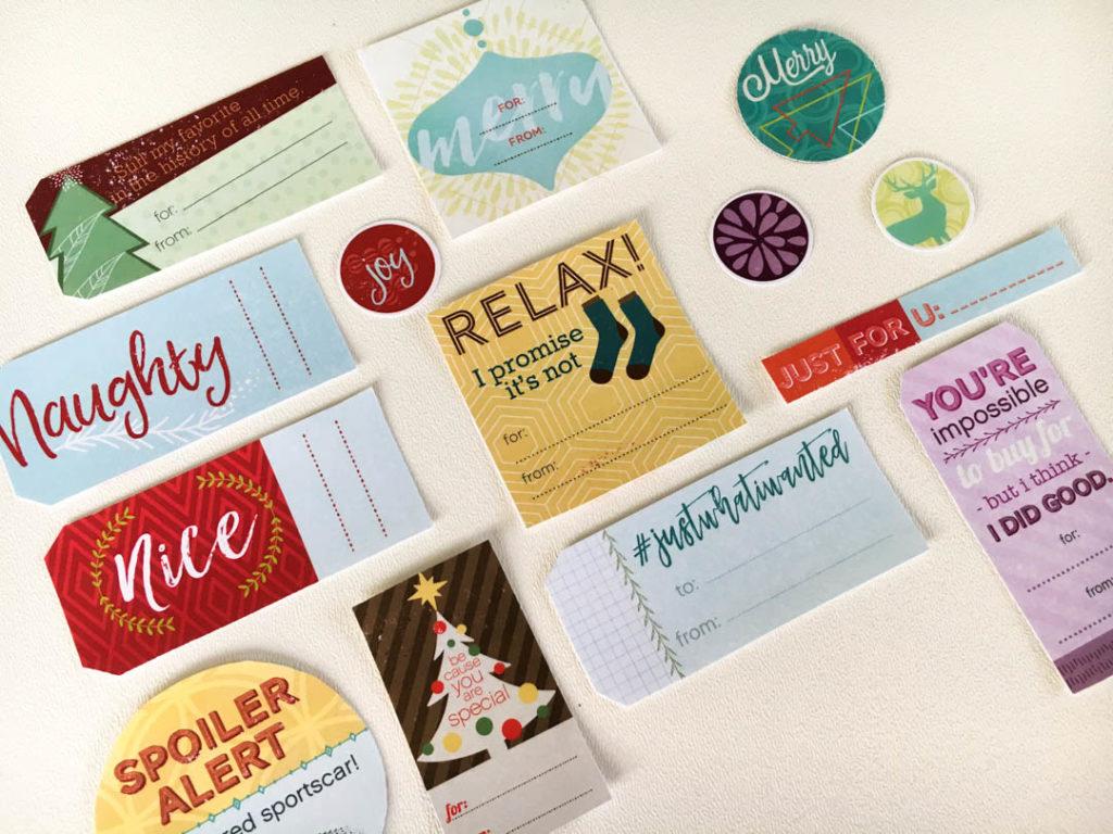 Holiday Gift Tag Printable
