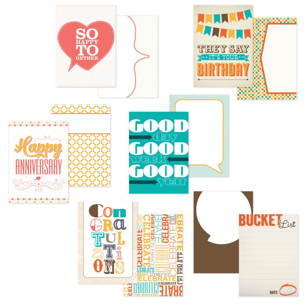 Celebrations Printable Scrapbooking Cards