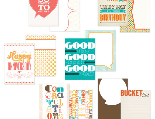 Celebrations Printable Scrapbook Card Collection