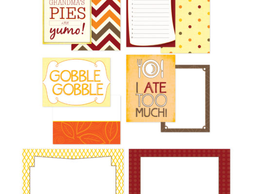 Thanksgiving Scrapbook Cards