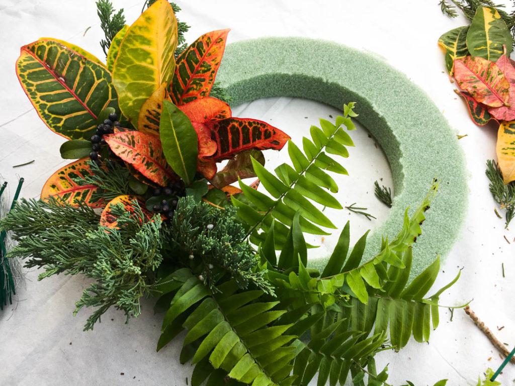 Tropical Thanksgiving Wreath Tutorial