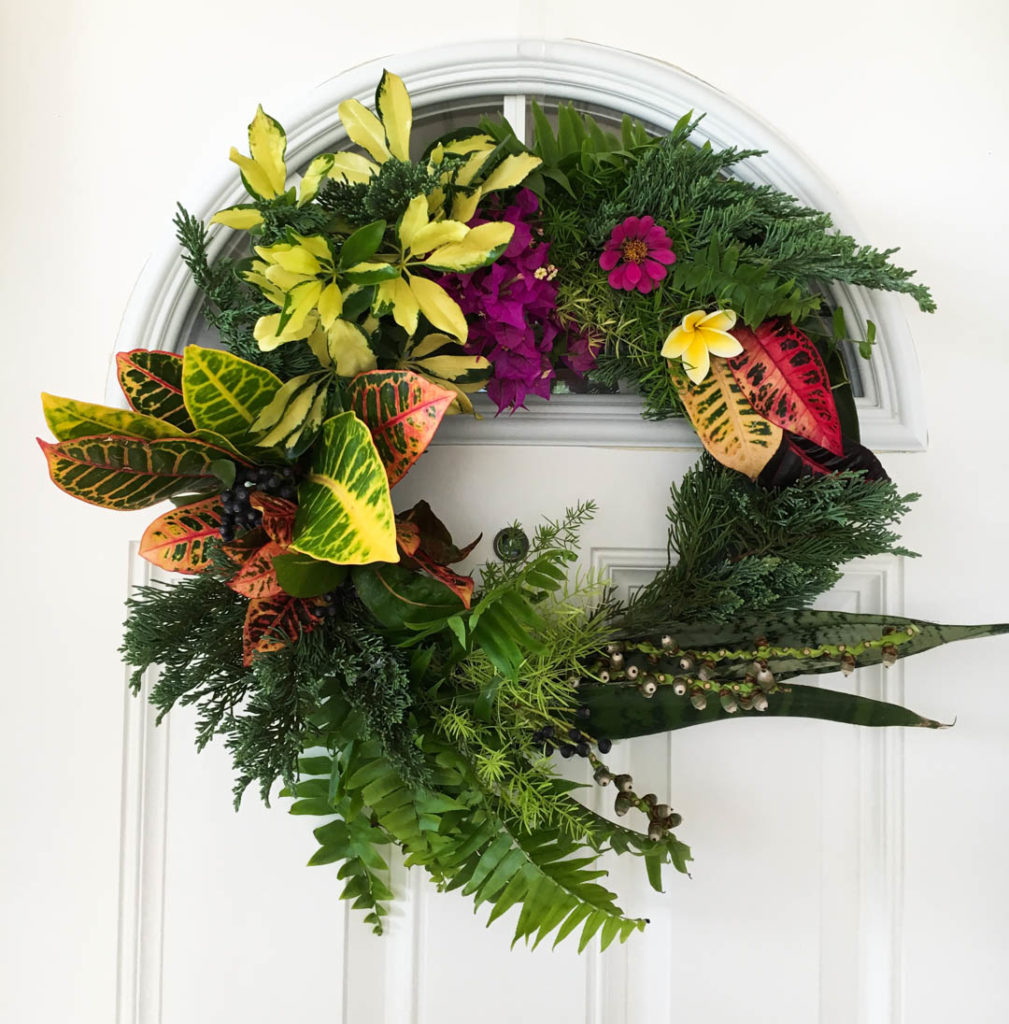 Tropical Thanksgiving Wreath