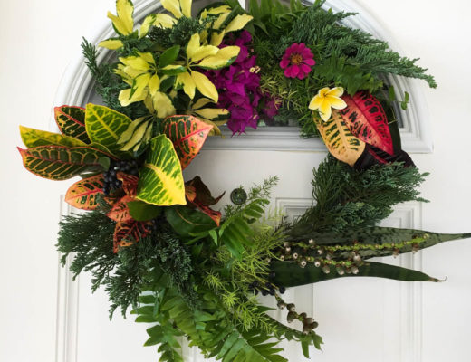 Tropical Thanksgiving Wreath