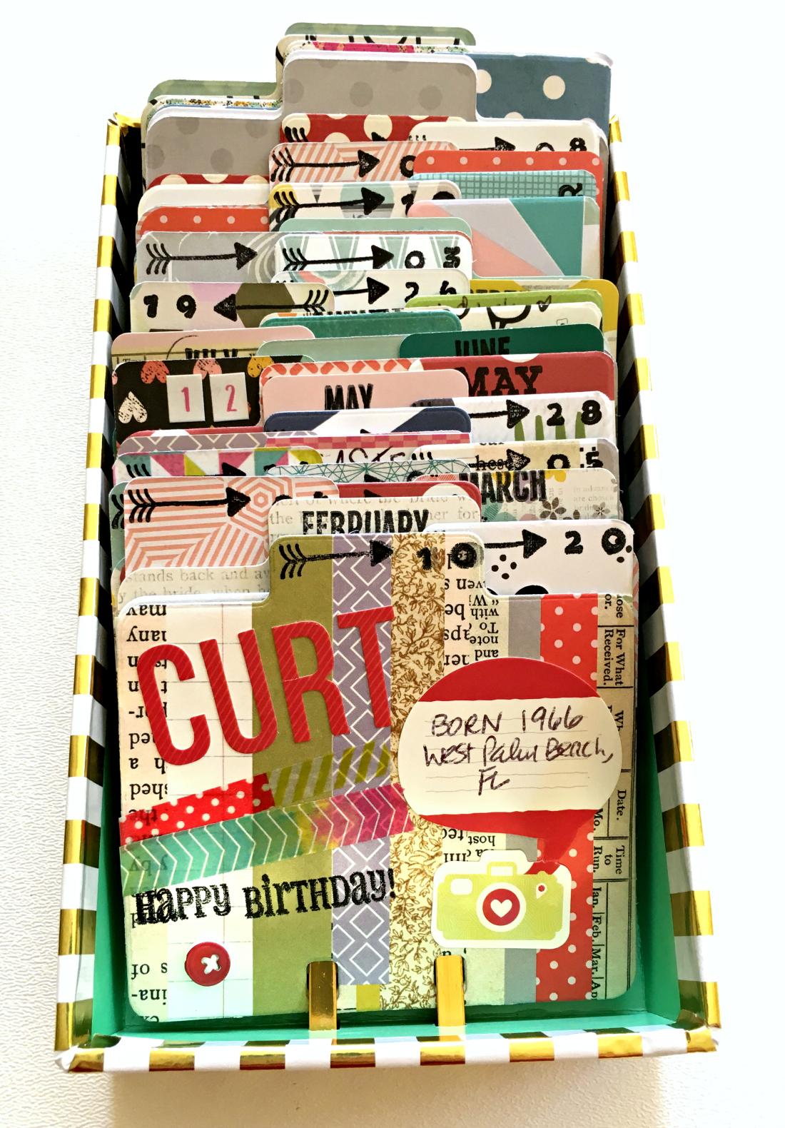 Birthday Rolodex Box