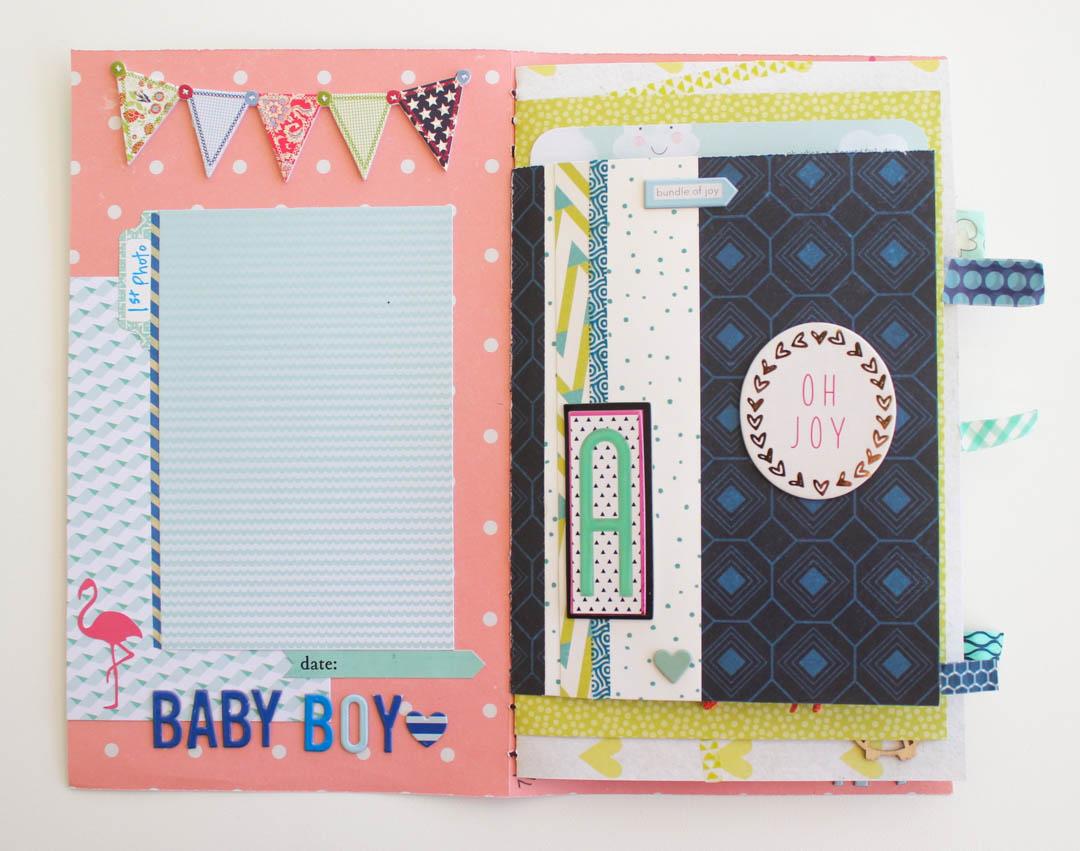 making a mini scrapbook album for baby make today creative